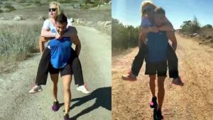 Britney Spears Gets Piggyback Ride on Hike With Her Boyfriend