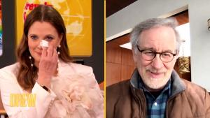Drew Barrymore Cries as She's Surprised by Her Old Friend Steven Spielberg