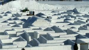 Here's a Virtual Trip Through the World's Biggest Snow Maze