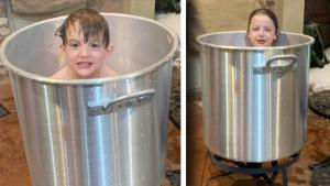 Mom With No Running Water Bathes 5 Kids in Pot of Melted Snow