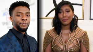 Chadwick Boseman's Widow Cries Accepting His Golden Globe for Best Actor