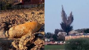Massive German WWII 'Hermann Bomb' Detonated in English City of Exeter