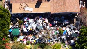 Garbage-Strewn Southern California Yard Is a Candidate for 'Hoarders'