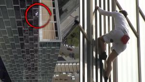 Free Climber George King Scales Barcelona Skyscraper With No Safety Gear