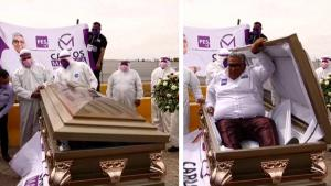 Mexican Politician Carlos Mayorga Rises From Casket to Launch Campaign