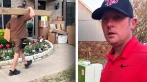 Prankster Mom Shocks Husband With Epic Delivery Box Joke