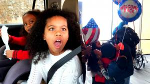 Kids Get Surprised by Military Dad Returning Home From Middle East