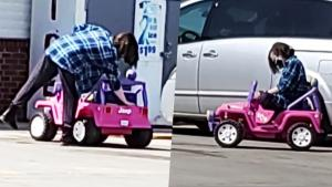 Arkansas Woman Drives Toy Jeep on Main Roads to the Store