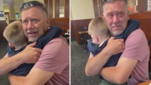 Grandpa Gets Surprised by Grandson Who Traveled 800 Miles to See Him