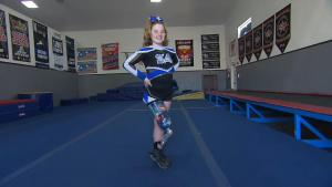 11-Year-Old Cheerleader Didn't Let Leg Amputation Get in Way of Her Dreams