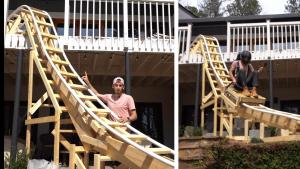 Atlanta Teen Builds Roller Coaster in Backyard That Starts on Parents' Balcony