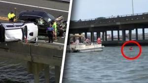 Baby Saved After Being Ejected From Vehicle Off 30-Foot Bridge in Car Accident