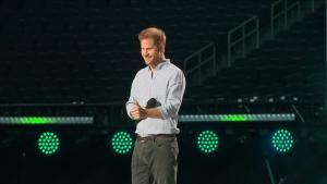 Prince Harry Gets Rockstar's Ovation at 'Vax Live' Concert in Los Angeles