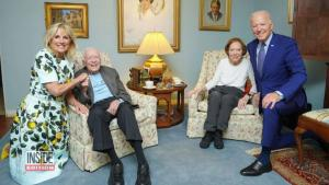 President Biden Looks Like a Giant Next to Former President Jimmy Carter