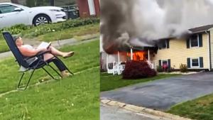 Woman Sets Her House on Fire Then Sits in Lawn Chair to Watch It Burn: Cops