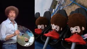 Bob Ross Toys Take 300-Foot Drop on Ohio Rollercoaster Ride
