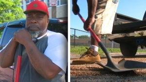 Man Fills Potholes After He Says City Won't