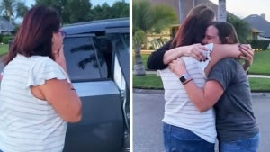 Husband and Friends Fake Car Crash to Surprise Mom for Birthday Reunion
