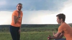 Kansas Meteorologist Proposes as Tornado Touches Down Behind Them