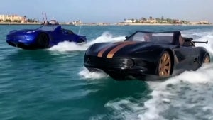 Car That Drives on Water Like a Jet Ski Hits Speeds of 43 MPH