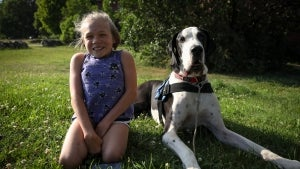 13-Year-Old Massachusetts Girl Walks Without Crutches Because of Great Dane