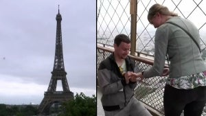 Man Proposes to Girlfriend at Top of Eiffel Tower on 1st Day of Reopening