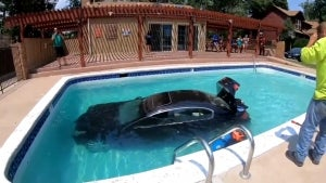 Teen Drives Car Into Colorado Swimming Pool, Cited for 'Careless Driving'
