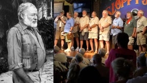 Bearded Men Compete in Ernest Hemingway Lookalike Contest in Florida's Key West