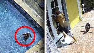 Burglar Takes a Swim in Homeowner's Pool Before Breaking In