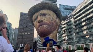 Giant Vincent Van Gogh Hot Air Balloon Floats Over Toronto, Canada