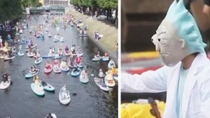 Thousands Participate in Russian Paddle-Board Festival
