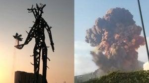 Lebanon Unveils Controversial Sculpture Memorializing 2020's Beirut Explosion