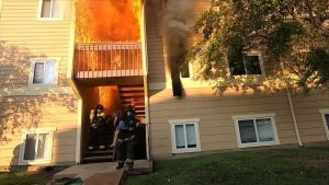 Firefighters Brave Flaming Apartment Building to Rescue Residents in Kansas