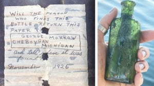 Woman Reads 95-Year-Old Message in a Bottle Written by Her Father