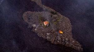 A Volcano's Lava Engulfed Everything in Sight Except This Home