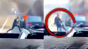 Rookie Cop Drags Man From Burning Car on California Highway