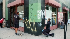 Graffiti Artist Illegally Tagging Structures At University: 'This Is Like a Canvas to Me'