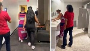 Protesters Follow Arizona Senator Kyrsten Sinema Into Bathroom