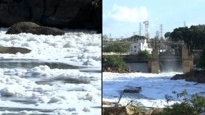 Toxic Foam Pollutes Tiete River in Brazil's Sao Paulo State