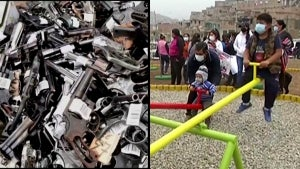 Playground Fashioned From Melted-Down Firearms Opens in Lima, Peru
