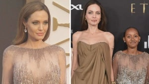 Angelina Jolie's Daughter Dazzles in Same Dress Her Mom Wore to 2014 Oscars