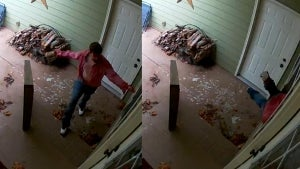 Mom and Baby Hide in Bathroom From Deranged Intruder Breaking Into Their House