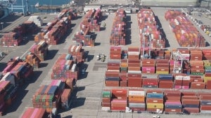 Record 100 Ships Waiting to Unload Sit Off Southern California Coast
