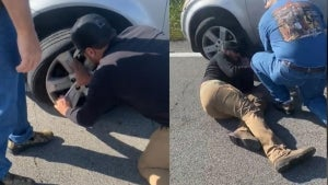 Luke Bryan Pulls Over to Change a Woman's Tire