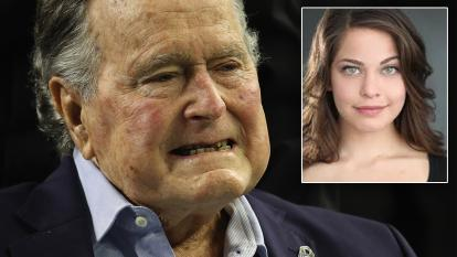 George H.W. Bush and Jordana Grolnick.