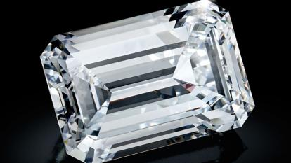 The Creation One is a D-color, Type IIA diamond – a variety valued for its transparency and color.