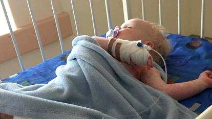 Baby Parker recovers after contracting the herpes virus.