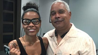 Natosha Brown and her biological father William Woolery