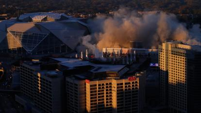 Georgia Dome goes boom
