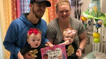 Formerly conjoined twins got to go home just in time for Thanksgiving.
